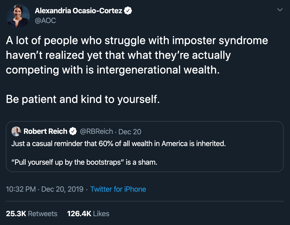 AOC on imposter syndrome