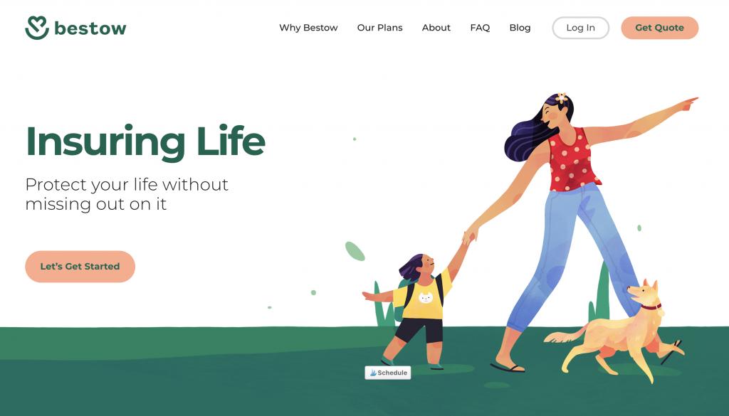 Bestow Insurance Homepage