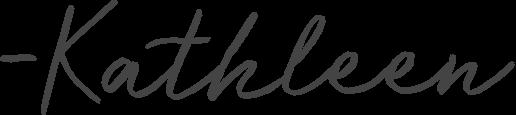 -kathleen signature