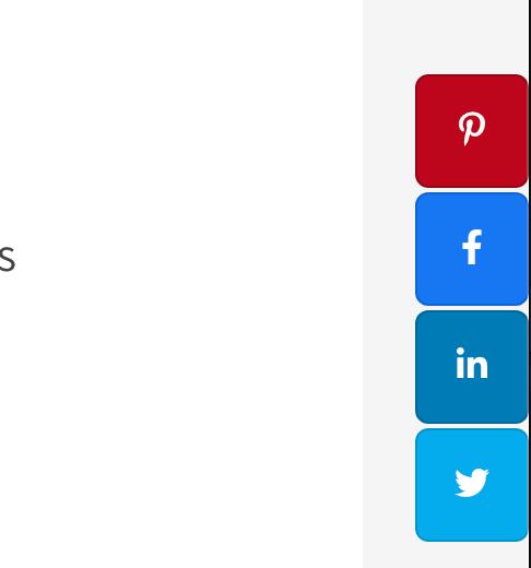 social rocket side floating buttons