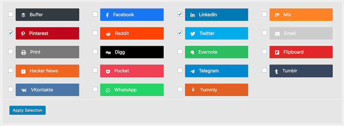 social rocket social options