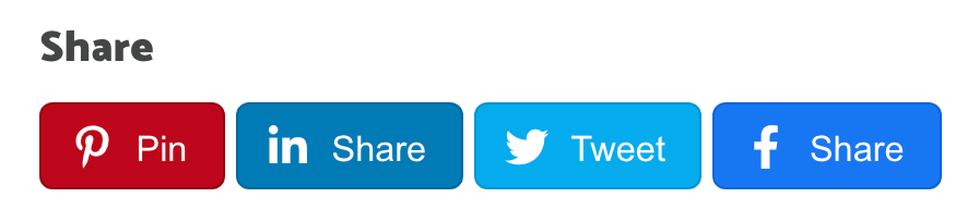 what the social rocket inline sharing buttons look like